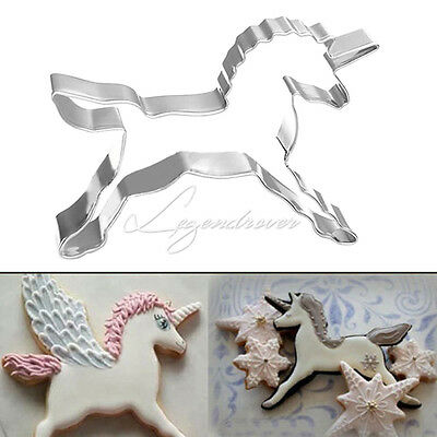Unicorn Horse Cookies Cutter Mold Cake Decorating Pastry Baking Biscuit Mould UK