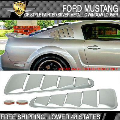 PP USA STOCK 10-14 Ford Mustang OE Style Painted # UA Black Window Louver