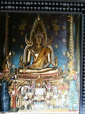 Vintage poster thai buddha chinnaraj BE.2507 original REAL RARE made in England