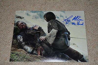 RORY MCCANN signed Autogramm 20x25 cm In Person GAME OF THRONES Der Hund Clegane