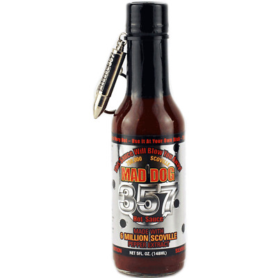 Mad Dog 357 Silver Collectors Edition Hot Sauce 1-5oz