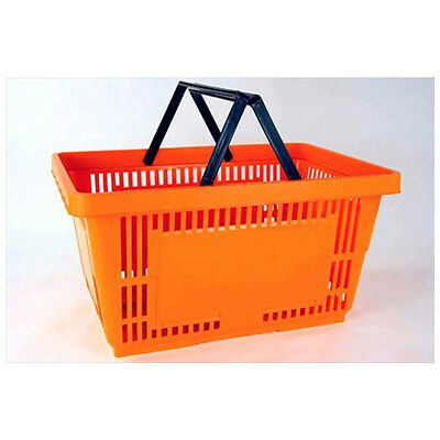 Plastic Grocery Store Shopping Basket- Orange- Eco / Environmentally Friendly