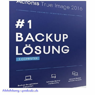 Acronis True Image 2016 1 PC Backup & Recovery / Vollversion / Deutsch / KEY