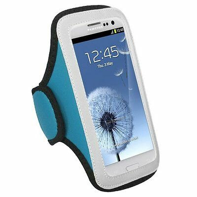 Blue Gym Jogging Universal Armband Pouch Case Dell Venue GSM Phone 3G Android