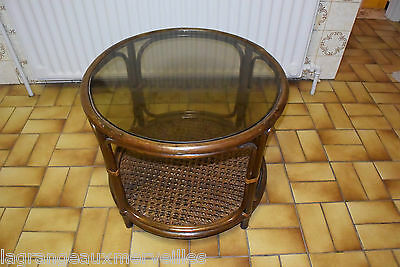 Ancienne table d'appoint repose pied thonet