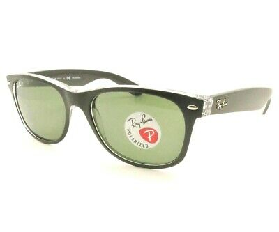 Ray Ban New Wayfarer 2132 6052/58 Polarized Black On Transparent New