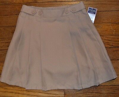 Chaps Khaki Scooter Skirt Skort Easy Care Approved EASY CARE  School Uniform