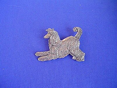 Afghan Hound PLAYING pin #32D Pewter Dog Jewelry by Cindy A. Conter sighthound