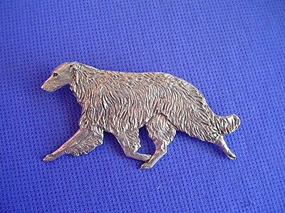 Borzoi Russian Wolfhound Pin #17B Pewter Hound Dog Jewelry by Cindy A. Conter