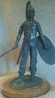 Celtic warrior 13 inch sculpture Roman  By Chris Levatino