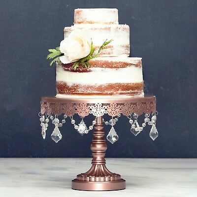10-Inch CAKE STAND Round Metal Wedding Event Party Display Pedestal Tower Plate