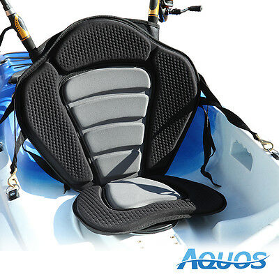 AQUOS Adjustable Deluxe Kayak Sit on Top Fishing Seat with Fishing Rod Holder