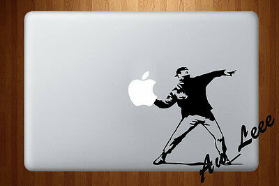 Macbook Air Pro Vinyl Skin Sticker Decal Banksy Graffiti Riot Protestor #MAC863