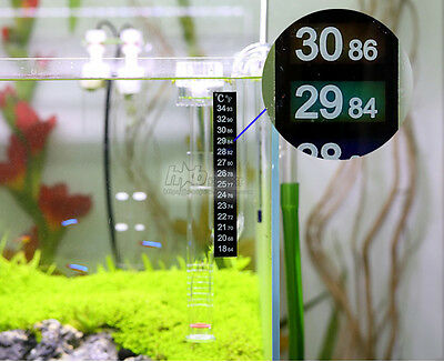 5 Pcs Lcd Stick On Digital Thermometer Aquarium Fish Tank Window Water Strip