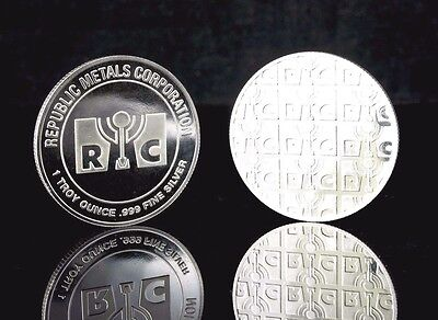 New 1 oz Republic Metals Corp (RMC).999 Fine silver Round  ++ Add-ons available!