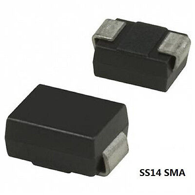 100Pcs Ss14 Sma Schottky Diode 1A 40V Diode 1N5819 In5819