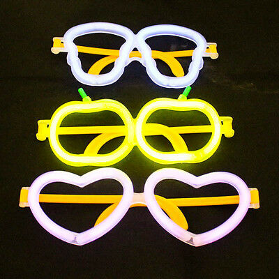 GLOW STICKS EYE GLASSES FLUORESCENT HALLOWEEN PARTY NIGHT Fancy Concert A1250
