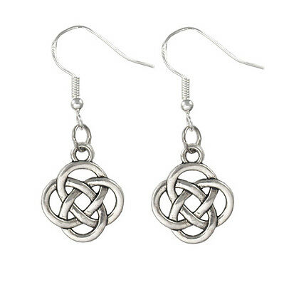 24 x Wholesale Vintage Silver Dangling Dangle Irish Round Knot Celtic Earrings