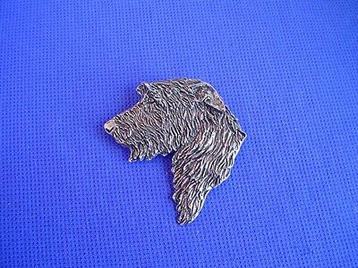 Irish Wolfhound necklace  HEAD STUDY #21A Pewter Dog Jewelry by Cindy A. Conter