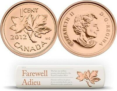 CANADA 2012 FAREWELL TO THE PENNY ROLL The Last Million Pennies TOTALLY SOLD OUT