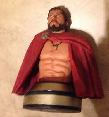 "King Leonidas 300 the Movie Resin 6"" Mini Bust Statue Spartans Neca great shape"