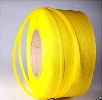 1 roll of 12.5mm x 1000m Yellow Polypropylene Strapping Band Poly Strap Packing