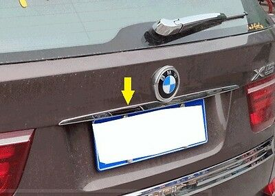 Stainless Steel Rear Trunk molding Lid Cover trim Chrome BMW X5 E70 X6 E71
