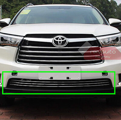 Stainless Steel Bumper Grille Air Vent Chrome Trim For Toyota Highlander 15 2016