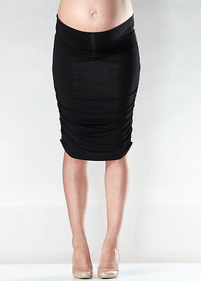 New - Soon Maternity - Ruched Skirt in Black - Maternity Clothes