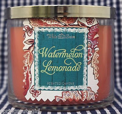 1 Bath & Body Works White Barn WATERMELON LEMONADE 3-Wick Scented 14.5 oz Candle