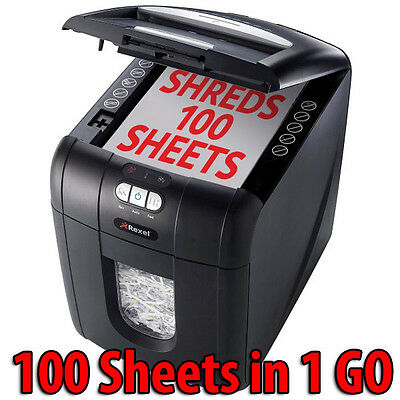 Rexel Stack & Shred Auto+100 Home Personal office Shredder Automatically