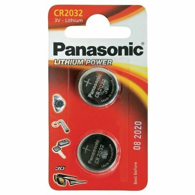 CR2032 Coin Battery Pack of 2 Panasonic 3V/ for Watches Cameras Car Keys Torches