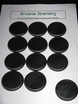 50mm Round bases slotted with lip Warmachine Warhammer