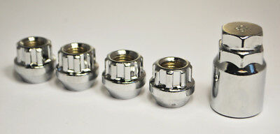 Set of 4 x M14 x 1.5, Open Locking Alloy Wheel Nuts (Silver)