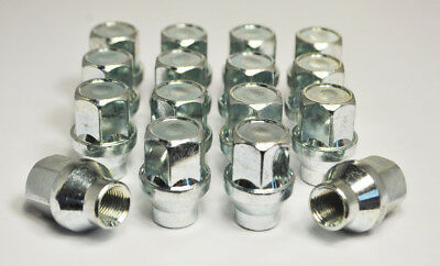 Set of 16 x M12 x 1.25, 19mm Hex Alloy Wheel Nuts With 6mm Shank (Silver)