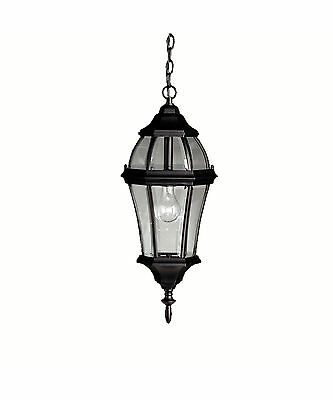 Kichler 9892 Bk Townhouse Outdoor Hanging Pendant 100W Clear Beveled Glass *nib*