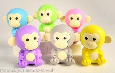 IWAKO Japanese Animal Novelty Puzzle Eraser Rubber- IWAKO Monkey Erasers