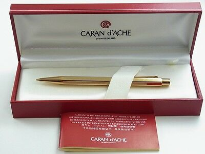 CARAN d'ACHE CdA ECRIDOR Gold Plated Chevron Mechanical Pencil NEW