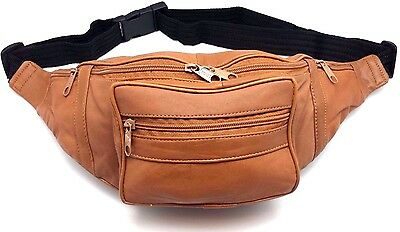 Wholesale lot of 12 Genuine Leather Fanny Pack Travel Waist Hip Bag 5 Colors