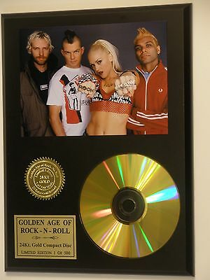 No Doubt - 24k Gold CD Display Rare Numbered Limited Edition - USA Ships Free