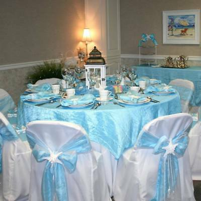 """24 x Wholesale Lot CRINKLED 60x60"""" SQUARE Table OVERLAYS Wedding Party Linens"""
