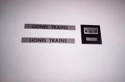 Lionel Part  ,3460 Decal And Plate Set