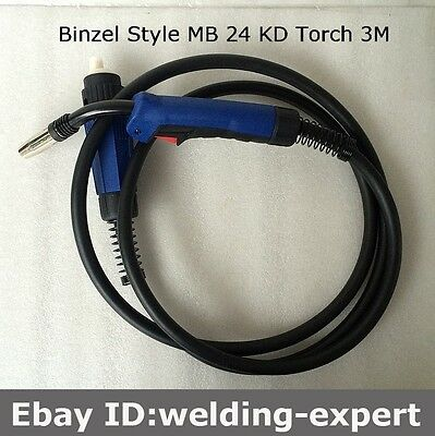 MB 24 KD Welding Torch Gun 3M Air-cooled Euro Quick Connector MIG MAG Welding