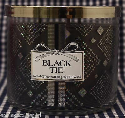 1 Bath & Body Works BLACK TIE 3-Wick Scented 14.5 oz Candle