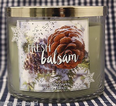 1 Bath & Body Works FRESH BALSAM 3-Wick Scented 14.5 oz Candle