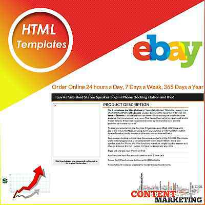 HTML Templates  ebay sellers Listing design template Content Marketing service