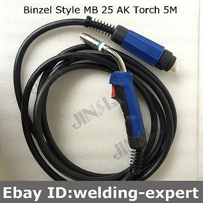 MB25 25AK Welding Torch Gun 5M Air-cooled Euro Quick Connector MIG MAG Welding