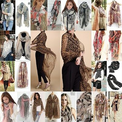 Fashion Women Retro Boho Cotton Scarf Wrap Ladies Shawl Girls Large Silk Scarves