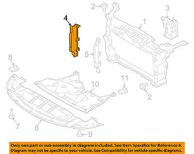 FORD OEM Fiesta Radiator Core Support-Air Baffle Duct Deflector Right side RH