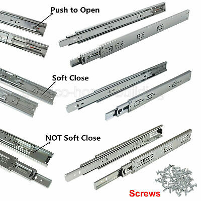 Ball Bearing Drawer Slides/Glides Runners Rear/Side Mount Full Extension 100lb